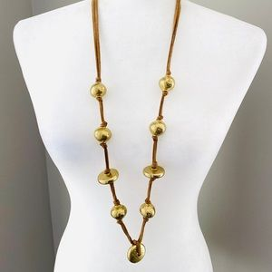 Chico's chunky gold tone statement necklace